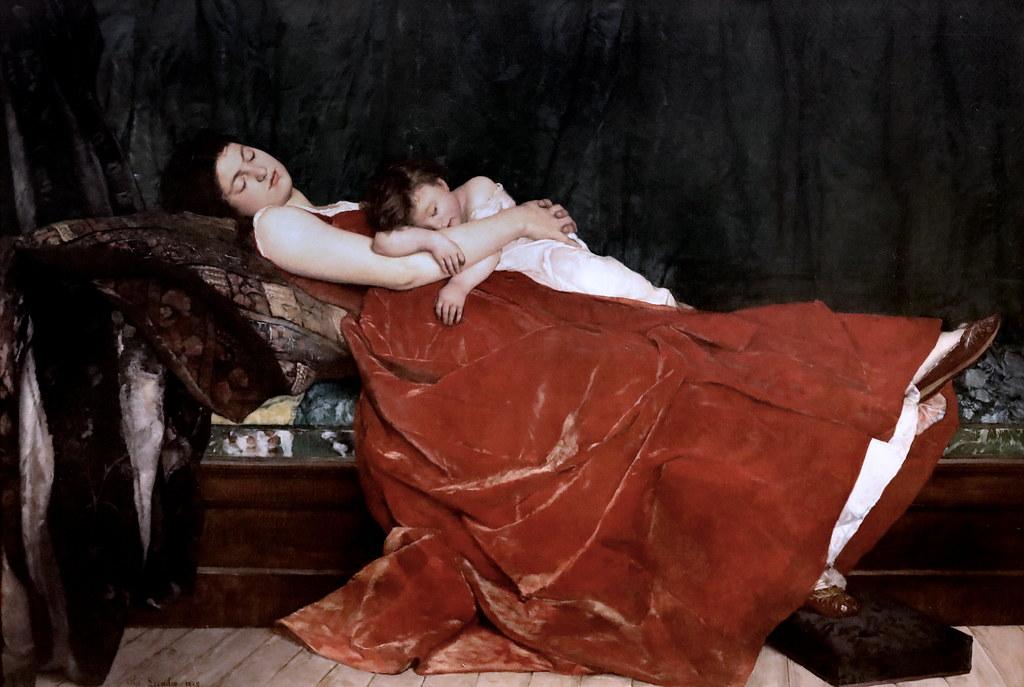 Alphonse Lecadre. 1842-1875. Paris Le Sommeil The Sleep 1872 Nantes Musée d'Arts by jean louis mazieres